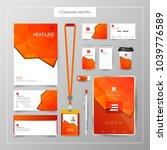 corporate identity template... | Shutterstock .eps vector #1039776589