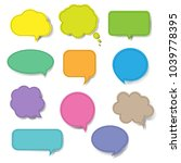 colorful speech bubble set... | Shutterstock . vector #1039778395