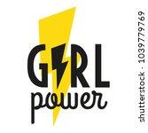 girl power. motivational phrase.... | Shutterstock .eps vector #1039779769