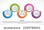 abstract options infographics...   Shutterstock .eps vector #1039780051