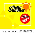 summer background with colorful ... | Shutterstock .eps vector #1039780171