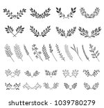 collection of beautiful... | Shutterstock .eps vector #1039780279