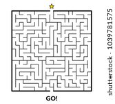 square maze puzzle isolated on... | Shutterstock .eps vector #1039781575