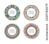 set of round hand drawn... | Shutterstock .eps vector #1039782079