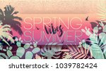 spring summer vibes. collection ... | Shutterstock .eps vector #1039782424