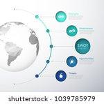 swot    strengths weaknesses... | Shutterstock .eps vector #1039785979
