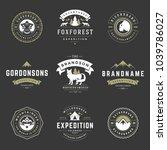 camping logos templates vector... | Shutterstock .eps vector #1039786027