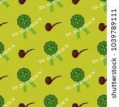 clover leaf hand drawn doodle...   Shutterstock .eps vector #1039789111