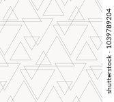 linear triangle vector pattern... | Shutterstock .eps vector #1039789204