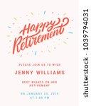 happy retirement. party... | Shutterstock .eps vector #1039794031