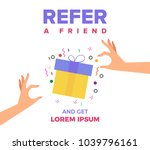 refer a friend vector... | Shutterstock .eps vector #1039796161