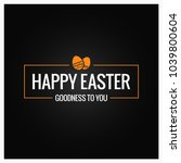 happy easter frame on black... | Shutterstock .eps vector #1039800604