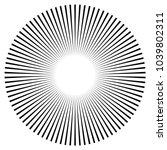 black radial  radiating lines... | Shutterstock .eps vector #1039802311