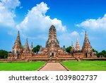 ayutthaya historical park  wat... | Shutterstock . vector #1039802737