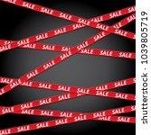 black friday sale tape ribbon... | Shutterstock .eps vector #1039805719