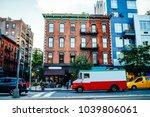 vintage building exterior in... | Shutterstock . vector #1039806061