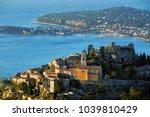 the village of eze    ze   the...   Shutterstock . vector #1039810429