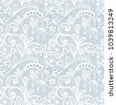 white lace seamless pattern... | Shutterstock .eps vector #1039813249
