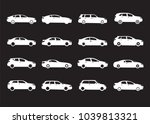set of white modern shapes and... | Shutterstock .eps vector #1039813321