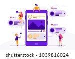 social media concept banner... | Shutterstock .eps vector #1039816024