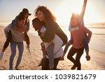group of friends having... | Shutterstock . vector #1039821679