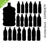 drink bottle silhouettes vector | Shutterstock .eps vector #103982879