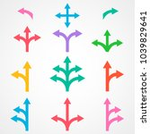 set of arrows pointing in... | Shutterstock .eps vector #1039829641