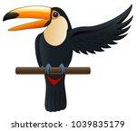 happy cute cartoon toucan | Shutterstock . vector #1039835179