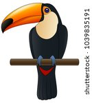 happy cute cartoon toucan | Shutterstock . vector #1039835191