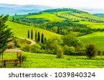 mountain green valley panoramic ... | Shutterstock . vector #1039840324