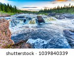 forest river rapids panoramic... | Shutterstock . vector #1039840339