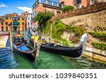 Venice Canal Gondolas Scene