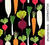 vegetables include radish ... | Shutterstock .eps vector #1039845724