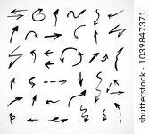 hand drawn arrows  vector set   Shutterstock .eps vector #1039847371