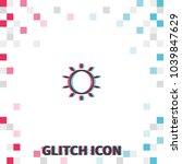sun  glitch effect vector icon.