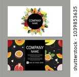 business card design with cute... | Shutterstock .eps vector #1039853635