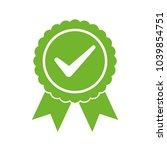 approved certified icon.... | Shutterstock .eps vector #1039854751