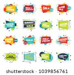 set of abstract banners in flat ... | Shutterstock .eps vector #1039856761