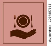 restaurant icon symbol | Shutterstock .eps vector #1039857985
