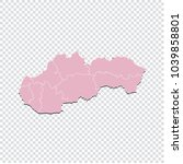 slovakia map   high detailed... | Shutterstock .eps vector #1039858801