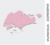 singapore map   high detailed... | Shutterstock .eps vector #1039858945