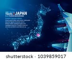 polygonal map of japan.... | Shutterstock .eps vector #1039859017