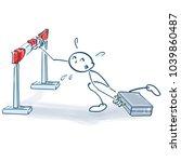 stick figure against an... | Shutterstock .eps vector #1039860487
