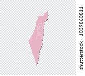 palestine map   high detailed... | Shutterstock .eps vector #1039860811