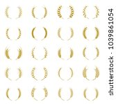 gold laurel wreath   a symbol... | Shutterstock .eps vector #1039861054