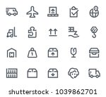 this icon set in bold outline... | Shutterstock .eps vector #1039862701
