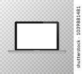 vector laptop isolated on white ... | Shutterstock .eps vector #1039881481