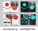 vector bi fold brochure for... | Shutterstock .eps vector #1039883194