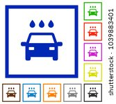 car wash flat color icons in... | Shutterstock .eps vector #1039883401