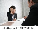 fatigued business people are... | Shutterstock . vector #1039883491